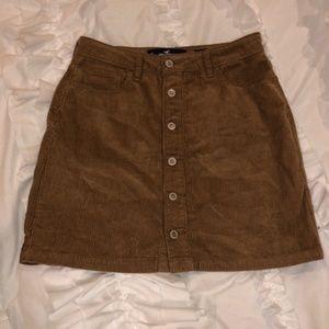 Hollister corduroy skirt